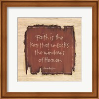 Faith Is The Key Fine Art Print