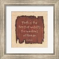 Faith Is The Key Fine Art Print