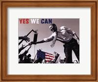 Barack Obama:  Yes We Can (crowd) Fine Art Print