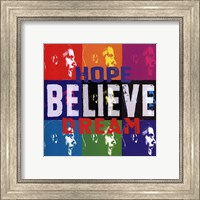 Barack Obama: Hope, Believe, Dream Fine Art Print