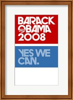 Barack Obama - (Yes We Can Logo) Campaign Poster Wall Poster