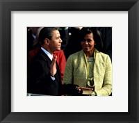 2009 Barack Obama Inaugural Address With Michelle Obama Fine Art Print