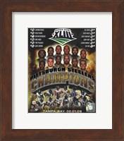 Pittsburgh Steelers 2009 SuperBowl XLIII Champions Composite Fine Art Print