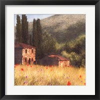 Villa and Cypress Fine Art Print