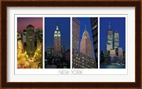 The Flatiron Building, the Empire State Building, the Chrysler Building and the World Trade Center Fine Art Print