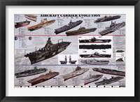 Aircraft Carrier Evolution Fine Art Print