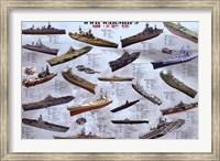 World War II War Ships Wall Poster