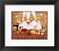 3 Chefs at Work Fine Art Print