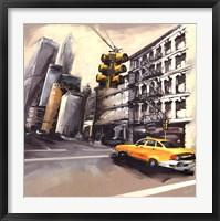New York - Feu Rouge Fine Art Print