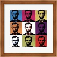 Abraham Lincoln - colored tiles Fine Art Print