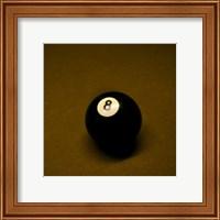 8 Ball on Brown Fine Art Print