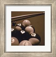 Pool Table II - Sepia Fine Art Print