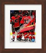 Jarome Iginla 832nd career point to become Flames All-Time leadign scorer 2008-09 Fine Art Print