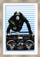 Monkey Boom Box Wall Poster