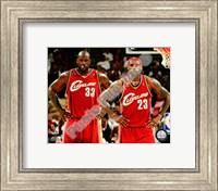 LeBron James & Shaquille O'Neal 2009-10 Group Shot Fine Art Print