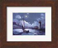 Moonlit Sail Fine Art Print