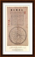 Map of the Main Stars in the Visible Realm, (The Vatican Collection) Fine Art Print
