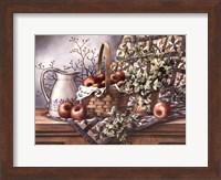 Quilt, Pitcher and Apples Fine Art Print