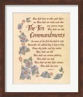 The Ten Commandments Fine Art Print