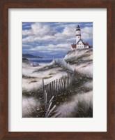 Lighthouse with Sand Dunes Fine Art Print