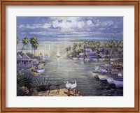Safe Harbor With Pelicans Fine Art Print