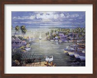Safe Harbor With Pelicans Fine Art Print