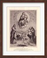 Madonna de Foligno, c.1511, (The Vatican Collection) Fine Art Print