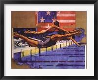 Olympic Swimmers Fine Art Print