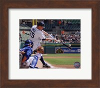 Brandon Inge 2010 hitting the ball Fine Art Print