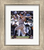 Brandon Inge 2010 in Action Fine Art Print