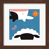 Farm Group: Cow and Sheep Fine Art Print