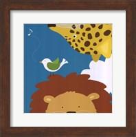 Safari Group: Leopard and Lion Fine Art Print