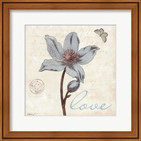 Touch of Blue IV - Love Fine Art Print