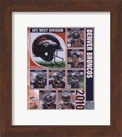 2010 Denver Broncos Team Composite Fine Art Print