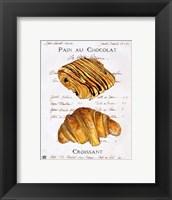 Pain au Chocolat et Croissant Fine Art Print