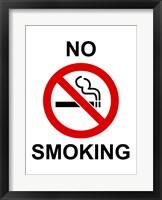 No Smoking - sign Fine Art Print