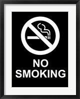 No Smoking - Black and White Fine Art Print