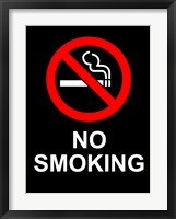 No Smoking - Black Fine Art Print