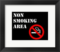 Non Smoking Area Fine Art Print