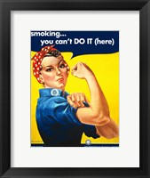 Smoking - You Cant Do It Fine Art Print