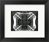 View of the Eiffel Tower from below Fine Art Print