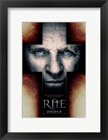 The Rite - cross shape face Wall Poster