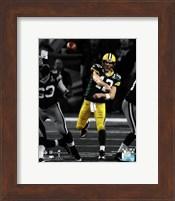 Aaron Rodgers Spotlight Action from Super Bowl XLV Fine Art Print