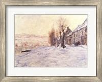 Lavacourt under Snow, c.1878-81 Fine Art Print