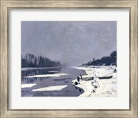 Ice on the Seine at Bougival, c.1864-69 Fine Art Print