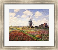 Tulip Fields with the Rijnsburg Windmill, 1886 Fine Art Print