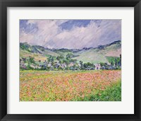 The Poppy Field near Giverny, 1885 Fine Art Print