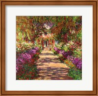 A Pathway in Monet's Garden, Giverny, 1902 Fine Art Print