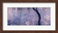 Waterlilies: Two Weeping Willows, right section, 1914-18 Fine Art Print