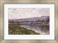 The Seine and the Hills of Chantemsle, 1880 Fine Art Print